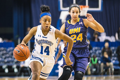 Indiana State takes the Northern Iowa Panthers on Friday, February 9, 2018 at the Hulman Center in Terre Haute, Indiana.