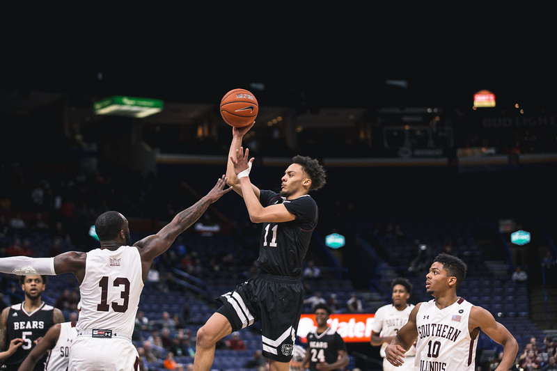 Southern Illinois takes on Missouri State during Arch Madness on Friday, March 2, 2018 at the Scottrade Center in St. Louis, Missouri
