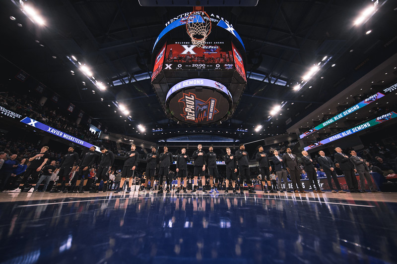 Xavier takes on Depaul at Wintrust Arena on March 3, 2108.