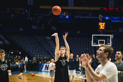 Xavier prepares for the 1st round of the NCAA Tournament at Bridgstone Arena on March 15, 2108.