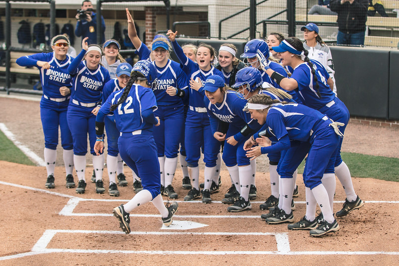 Indiana State softball takes on Purdue at Bittinger Stadium on April 11, 2018.