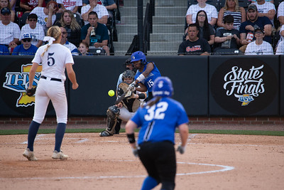 Decatur Central and Lake Central battle for the 2018 IHSAA 4A Softball Title on June 9, 2018 at Bittinger Stadium in West Lafayette, Indiana