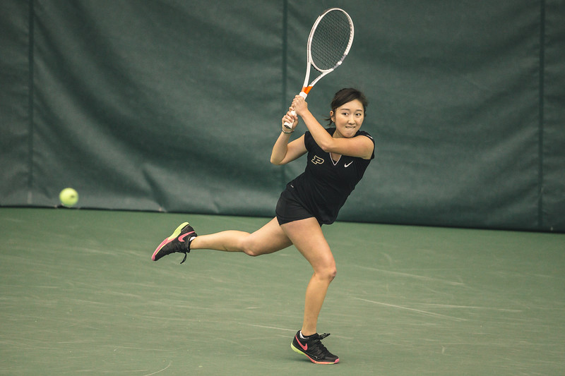 Purdue women's tennis takes on Ohio State at the Schwartz Tennis Center on April 15, 2018.