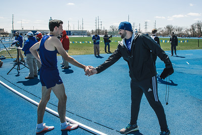 Indiana State track and field at the Gibson Invitational on April 6, 2018.