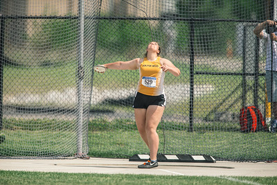 Action at the 2018 MVC Track and Field Championships at the Gibson Track and Field Complex in Terre Haute, Indiana