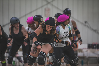 Lafayette Roller Derby Pride Scrimmage at the Brawl House in Lafayette, Indiana on June 16, 2018.