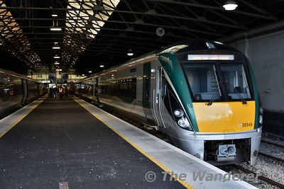22049 is in platform 1 with the 1750 to Limerick Jct.