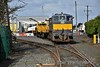 088 shunts the CWR train at Portlaoise PWD Yard. Tues 20.02.18