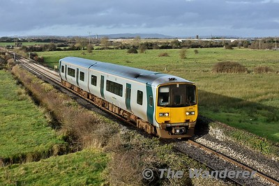2814 + 2813 pass Clareabbey with the 1325 Ennis - Limerick. Sat 13.01.18