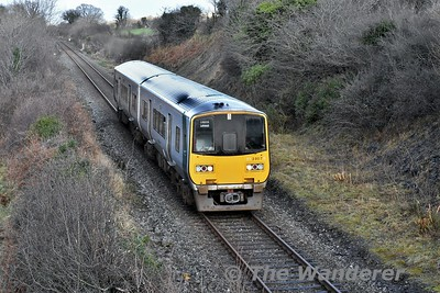 2807 + 2808 passes Dromquin between Gort and Ennis with the 1345 Galway - Limerick. Sat 13.01.18