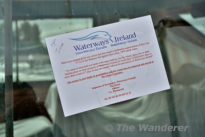 Several long term visitors to Garrykennedy Harbour have been stickered by Waterways Ireland on Sunday 17th June. It is not permitted to stay in a Public Harbour more than 5 days. Sun 17.06.18