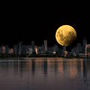 Supermoon over Port Melbourne