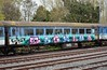 Former Gatwick Express carriage. NIR no. 943 stored at Dundalk. This is now owned by the RPSI. Tues 01.05.18