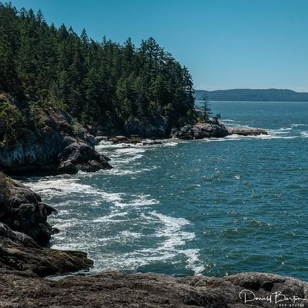 Gentle waves - rugged cliffs
