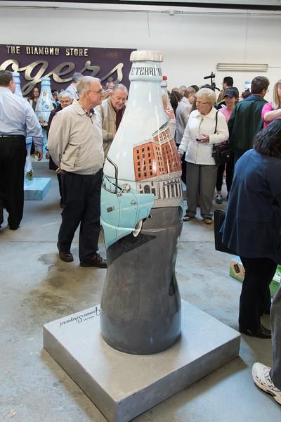 Coke Bottle Unveliing Terre Haute Historical Society