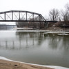 Wabash River Bottoms Terre Haute Big Four Bridge Trains