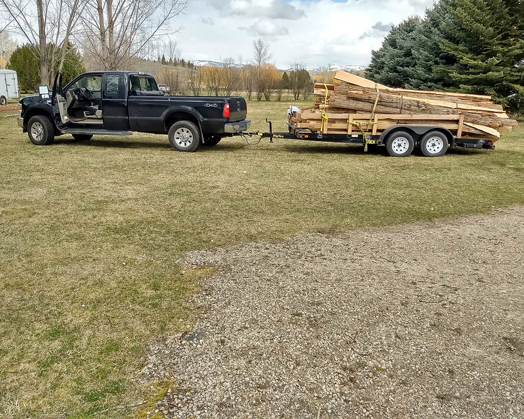 Arriving Home from Getting wood