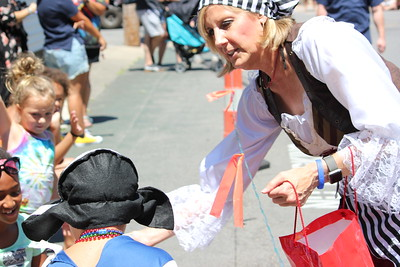 Charles Pritchard - Oneida Daily Dispatch Congresswoman Claudia Tenney, R-22, hands out candy at Sylvan Beach for Pirates Weekend on Saturday, July 21, 2018.