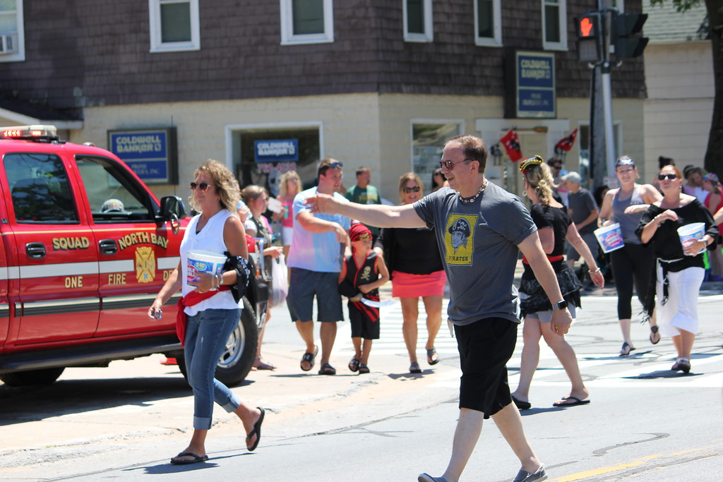 . Charles Pritchard - Oneida Daily Dispatch Senator Joe Griffo, R-47, in the Pirates Parade for Pirates Weekend at Sylvan Beach on Saturday, July 21, 2018.
