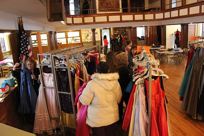 Charles Pritchard - Oneida Daily Dispatch The First Presbyterian Church in Oneida held its annual Prom Dress Giveaway on Saturday, Feb. 10, 2018.
