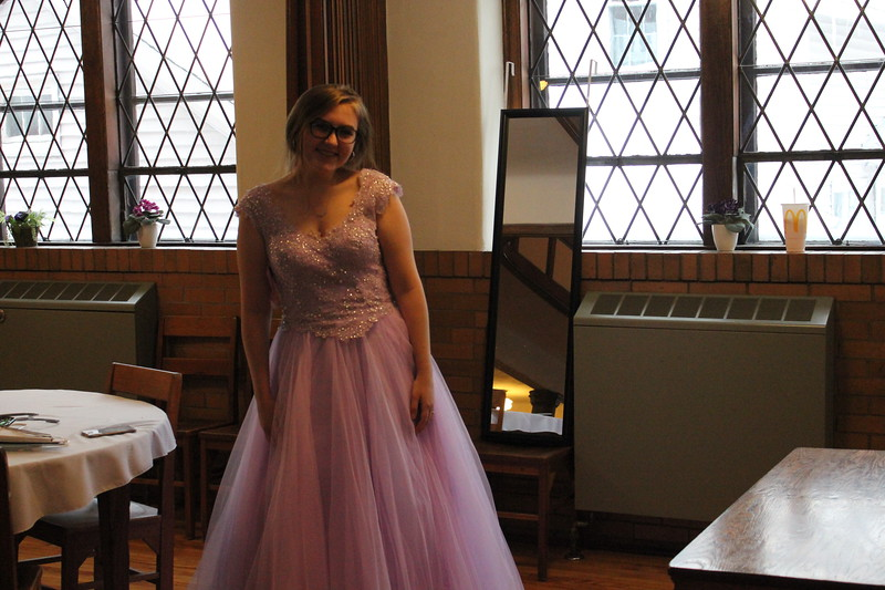 Charles Pritchard - Oneida Daily Dispatch Autumn Naylor, 17, finds the perfect dress at The First Presbyterian Church of Oneida's Prom Dress Giveaway on Saturday, Feb. 10, 2018.