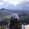 RESESS Intern Beth Schaeffer overlooking the scenery during the Rocky Mountain National Park Field Trip. June 15, 2018 (Photo: Jordan Wachholtz).