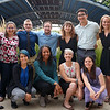 2018 RESESS interns Adelicia, Gabriela, Haley, Beth, Zachary, Jordan, Teodora, and Joel with assistants Megan and Emily, and UNAVCO's Aisha after the end of summer poster session.  August 2, 2018.  Boulder, Colorado.  (Photo/Daniel Zietlow, UNAVCO)