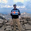 2018 RESESS Intern Jordan at Quandary Peak, one of Colorado's 14ers, which he climbed with USIP intern Diana Krupnik. Summit County, CO. July 22, 2018. (Photo: Jordan Wachholtz)