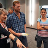 2018 RESESS intern Haley with research mentors Colin and Becky during the end of summer poster session.  August 2, 2018.  Boulder, Colorado.  (Photo/Daniel Zietlow, UNAVCO)