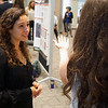 2018 RESESS intern Adelicia discusses her summer research at the end of summer poster session.  August 2, 2018.  Boulder, Colorado.  (Photo/Daniel Zietlow, UNAVCO)