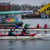 January 7, Racing Canoes off Granville Island.
