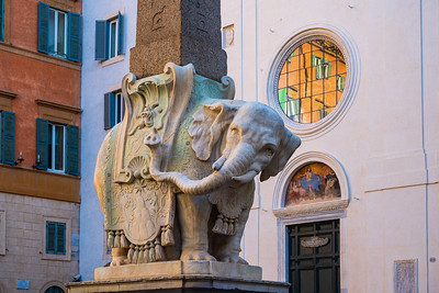 Designed by Bernini, the Elephant and Obelisk is the base of the smallest obelisk of Rome