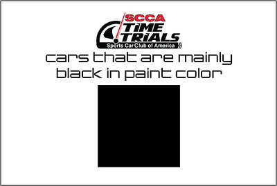 The Black Cars of the SCCA Time Trials at NCM