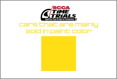 The Gold Cars of the SCCA Time Trials Event