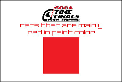 The Red Cars of the SCCA Time Trials Event