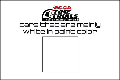 The White Cars of the SCCA Time Trials Event