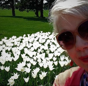 White tulips and me