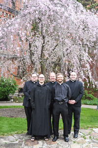 Saint Vincent Seminary Student Leadership Forum officers for 2018-2019 are: Joseph Petrone, Diocese of Erie, president; Brother Cassian Edwards, O.S.B., Saint Vincent Archabbey, vice president; John Hepinger, Diocese of Erie, activities and outings; Jordan Sonnett, Diocese of Pittsburgh, evangelization; and Joseph Rielage, Diocese of Covington, house operations.