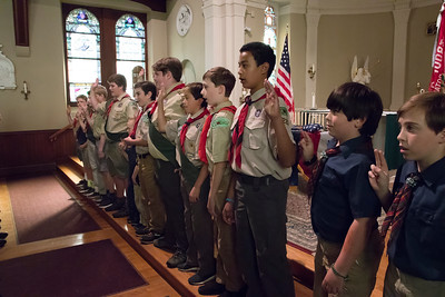 shumskis01-Troop_220_of_Woodstock_reciting_the_Boy_Scout_Pledge_to_open_the_ceremony