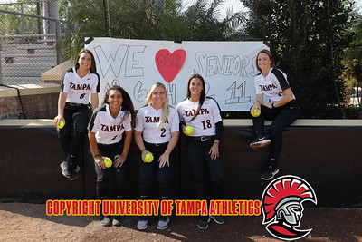 4/28/2018; Tampa, Fla.; University of Tampa softball vs. Eckerd College on senior day.