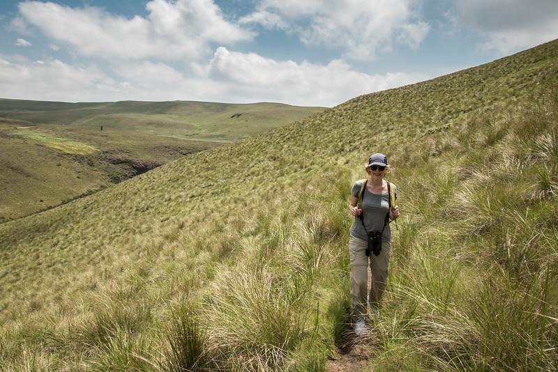 Nan Hiking in Highmoor