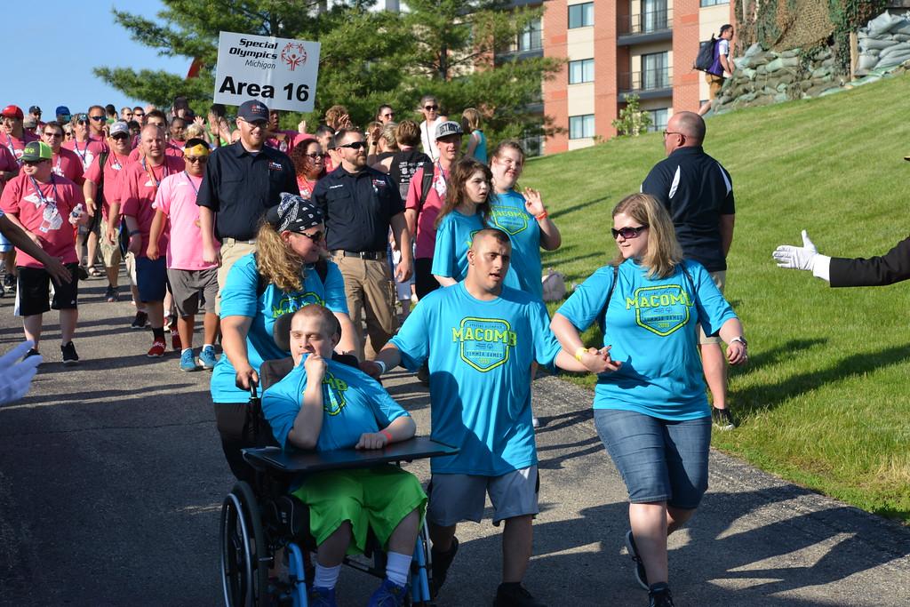 . Linda Kerkau - Morning Sun -   The 2018 Special Olympic Michigan Summer Games Opening Ceremonies