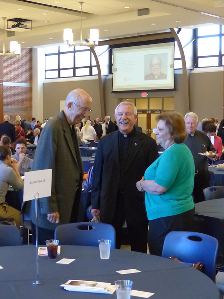 Brother John Fava, SJ, and friends