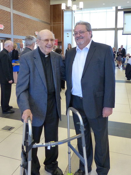 Father James Short, SJ, and friend
