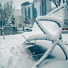 uptown charlotte north carolina snow covered romare bearden park