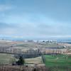 scenic nature landscape of farm fields in west virginia