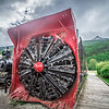 old snow plow museum train locomotive in skagway alaska