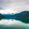 glacier and mountains landscapes in wild and beautiful alaska