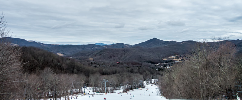 sugar mountain ski resort landscape and trails in north carolina