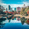 charlotte city north carolina cityscape during autumn season